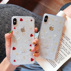 滴膠貝母愛心月亮蘋果X手機殼iphone11Pro/Max全包軟殼7/8plus創意xsmax硅膠防摔套6s透明保護套XR可愛女款潮