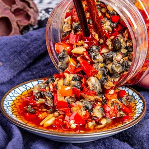 香辣螺絲肉瓶裝下飯菜即食田螺肉醬腌菜辣椒螺螄肉咸菜湖南特產