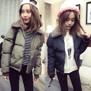 棉襖女短款韓版處理秋冬季外套加厚棉服小款棉衣反季清倉特價。