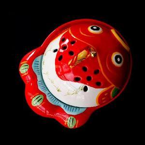 现货包邮日本制药师窑招财猫驱蚊器招福金鱼陶瓷熏香炉摆件蚊香炉