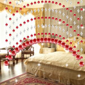 珠簾水晶隔斷客廳玄關成品過道臥室衛生間門簾柏詩雅弧形拱形