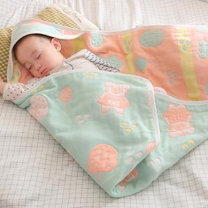 初生婴儿抱被产房包巾新生儿包被春秋纯棉纱布夏季薄款宝宝包裹被