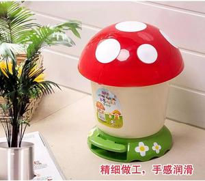创意新款塑料可爱带盖脚踏儿童房垃圾桶家用有盖卧室小号纸篓包邮