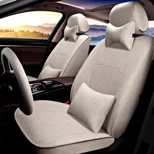 豐田普拉多霸道亞麻汽車座套RAV4榮放凱美瑞漢蘭達四季全包布坐墊