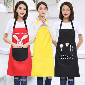 防水防油围裙韩版时尚家用?#20449;?#21416;房做饭工作服定制做印字围腰logo