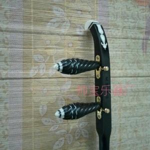 黑檀秦腔板胡杆  黑檀平头 卷头板胡杆 扁杆子 紫檀板胡杆 促销价