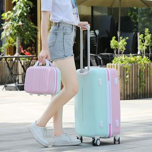 韓版行李箱女24寸子母拉桿箱20萬向輪旅行箱大容量學生密碼箱26寸