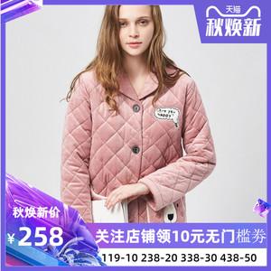 娅茜内衣新款秋冬款女士珊瑚绒加厚保暖家居服睡衣套装518953