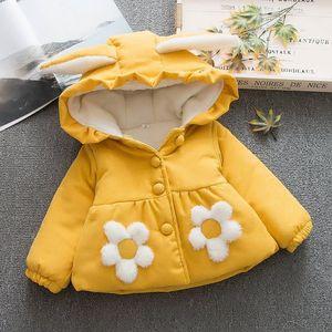 女童灯芯绒棉衣加厚外套冬季6个月婴儿0-3岁女宝宝加绒儿童装棉服