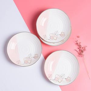 [打折]雅诚德陶瓷盘子7寸 8寸菜盘深饭盘方盘鱼盘陶瓷碗盘餐具