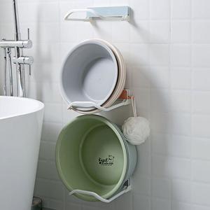 居家家免打孔折疊臉盆架衛生間盆子收納架浴室壁掛臉盆掛鉤掛盆鉤