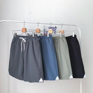 BF男友風大碼情侶夏裝運動短褲胖mm加肥ins超火直筒闊腿褲潮200斤