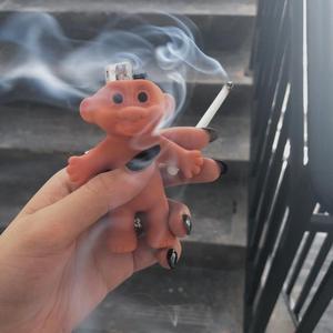 卷入REELITIN 巨魔娃娃打火机套土酷创意个性霹雳复古蹦迪小玩具