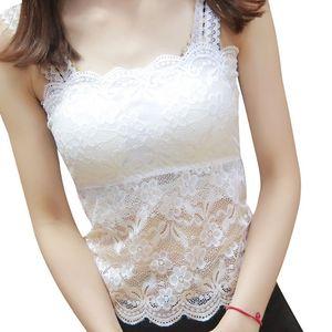 夏季女士韩版打底衫百搭短款小背心大码内搭上衣抹胸薄款蕾丝吊带