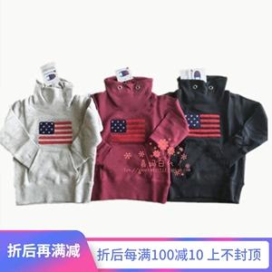 國現特賣Champion童裝日本代購CS4339美國國旗薄款線圈長袖衛衣