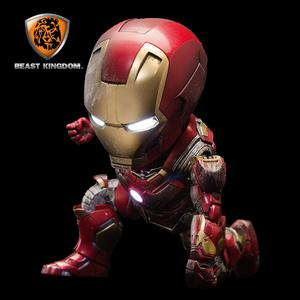 野獸王國漫威可動發光Q版鋼鐵俠美國隊長滅霸手辦模型復仇者聯盟4