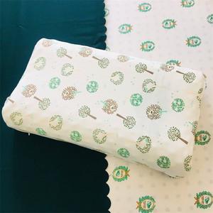 普梳純棉全棉針織棉泰國素萬乳膠枕套成人兒童寶寶枕皮定做小園樹