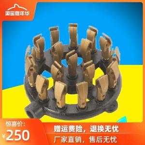 18咀鸭咀炉头铜鸭嘴炉心燃气喷射炉芯矮汤炉胆商用灶小炒灶心配件