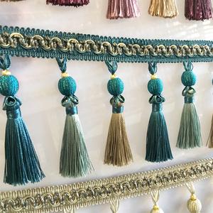 天河新歐式窗簾花邊珠子吊穗包絲手工紡織家居縫邊婚慶飾桌椅輔料