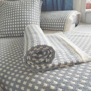 防滑沙發墊四季通用北歐簡約棉麻亞麻蓋布巾粗布坐墊子萬能套罩
