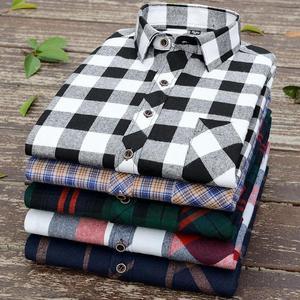 ins超火的格子衬衫外套男士衬衣长短袖韩版潮流春夏休闲大码上衣