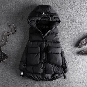 連帽棉馬甲女短款2019冬裝韓版顯瘦A字型時尚無袖坎肩背心外套