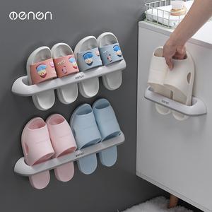 浴室拖鞋架壁掛式廁所鞋子收納神器衛生間免打孔鞋架洗手間置物架
