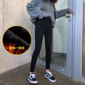 孕妇打底裤裤子秋季外穿长裤春秋冬装时尚款黑色内搭冬季加绒加厚