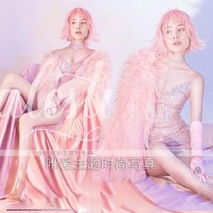 时尚个性性感皮草私房照主题写真摄影服装 DS夜店歌手舞台演出服