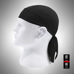 骑行海盗帽跑步速干吸汗包头帽女头盔内帽夏防晒装备自行车头巾男