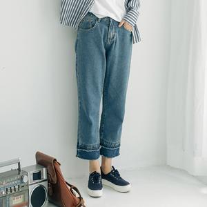 复古宽松牛仔裤女
