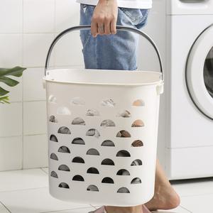 手提家用北歐塑料洗衣籃收納籃籃子浴室髒衣籃髒衣服收納筐髒衣簍