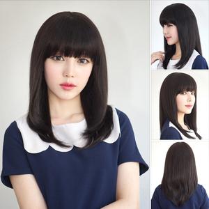 韩国非主流假发中长直发可爱学生清纯自然逼真女生2019新款全头套