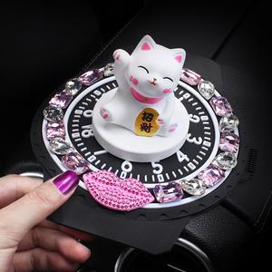 汽车摆件招财猫香水座创意时尚车用香薰除异味摆件装饰品车载香水