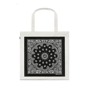 THE V BRAND原創潮牌腰果花方巾拼貼設計托特包帆布包挎包手提袋