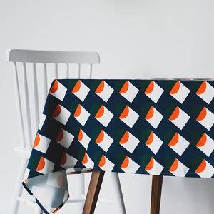 防水帆布加厚北歐餐桌布藝原創設計幾何ins桌布現代茶幾裝飾蓋布