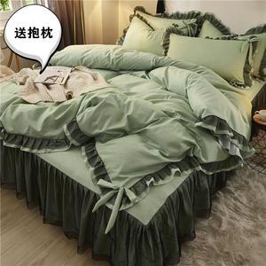網紅款ins四件套全棉純棉少女心公主風春夏床上用品床裙床單被套