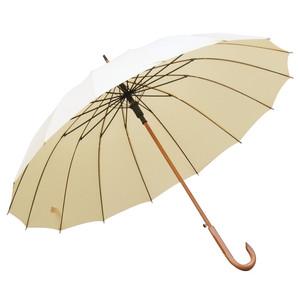 男女木制加大16骨長柄傘晴雨傘實木彎柄抗風雙人傘商務可定制logo