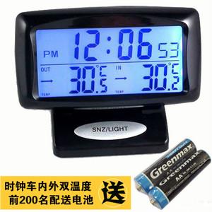 車載時鐘 汽車溫度計 電壓表 車內外溫度檢測 車用電子表 夜光