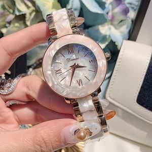 蒂米妮酷炫女表潮流個性表帶時尚網紅羅馬字帶日歷鋼帶女士手表