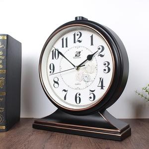 欧式复古座钟台钟客厅美式大号台式钟表摆钟桌面家用坐钟时钟摆件