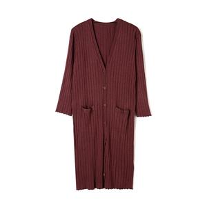 奥特莱斯品牌折扣女装 RB秋装2019新款正品剪标 复古简约针织外套