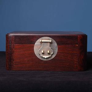 印度小葉紫檀全獨板隔層首飾盒家居飾品桌面珠寶收納盒紅木盒子
