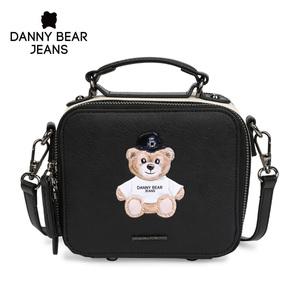 丹尼熊立體手提斜挎包女潮酷個性黑白撞色新款小方包DJB8816033