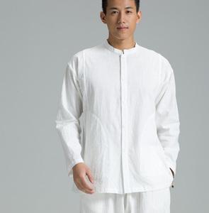 慈缘民族风中式居士服禅修服唐装男装长袖衬衫男上衣宽松YXS08-79