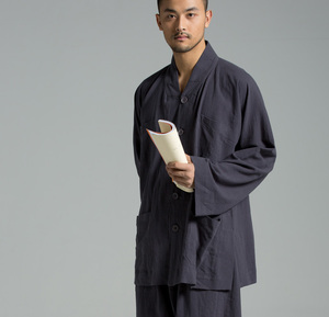慈缘原创僧服装套装男复古中国风棉麻僧衣小褂僧服短褂YXS02