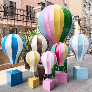 定制七夕情人节大型商场户外婚礼氛围布置美陈DP点创意热气球装饰