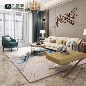 水晶夢 輕奢簡約客廳茶幾地毯 后現代北歐家用大面積臥室地毯地墊