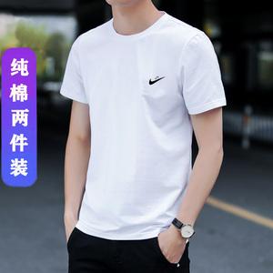 愛耐克t恤男短袖夏季薄款圓領純棉半袖潮流ins超火夏裝白色運動服