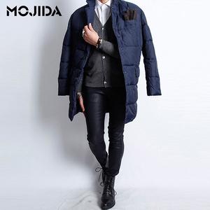 魔吉达韩国男装冬明星同款鸭绒外套男士韩版宽?#23578;?#38386;羽绒服-JK030